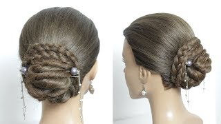 Easy Hair Bun Hairstyle with Sticks