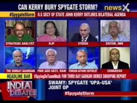 India Debates: John Kerry 'lands' into spygate row