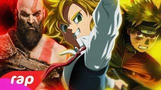 Rap do Kratos, Meliodas e Naruto - O PODER DA MINHA IRA | NERD HITS