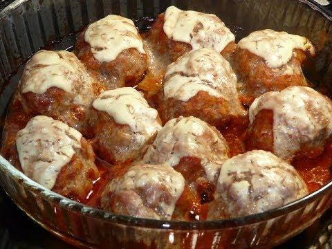 Вкусный ужин ( обед) - легко. Мясные шарики в легком соусе/Мясные блюда/Блюда из фарша/meatballs