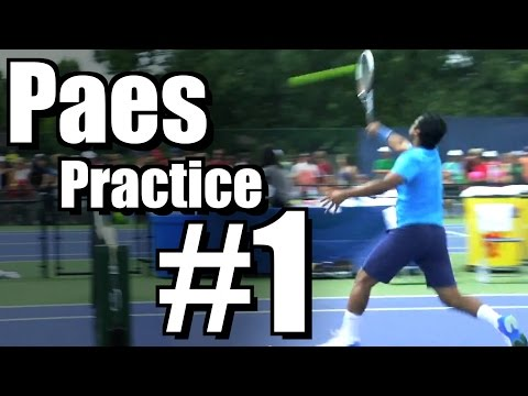 Leander Paes | Forehand, Backhand, and Overhead #1 | Western & Southern Open 2014