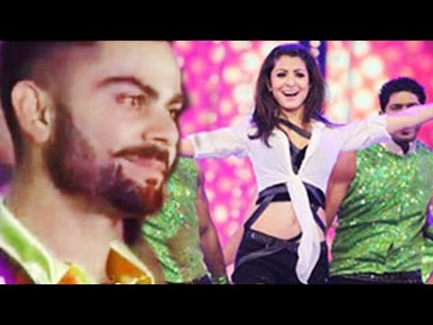 Virat Kohli BLUSHES when Anushka Sharma performs | IPL8 2015 Opening Ceremony