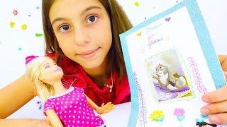 Барби и блокнот для девочек своими руками. Творческие идеи от подружки Вики. Видео для детей.