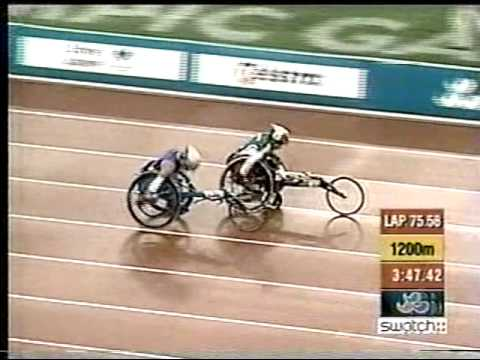 Lisa Franks 1500m wheelchair race 2000 Paralympics
