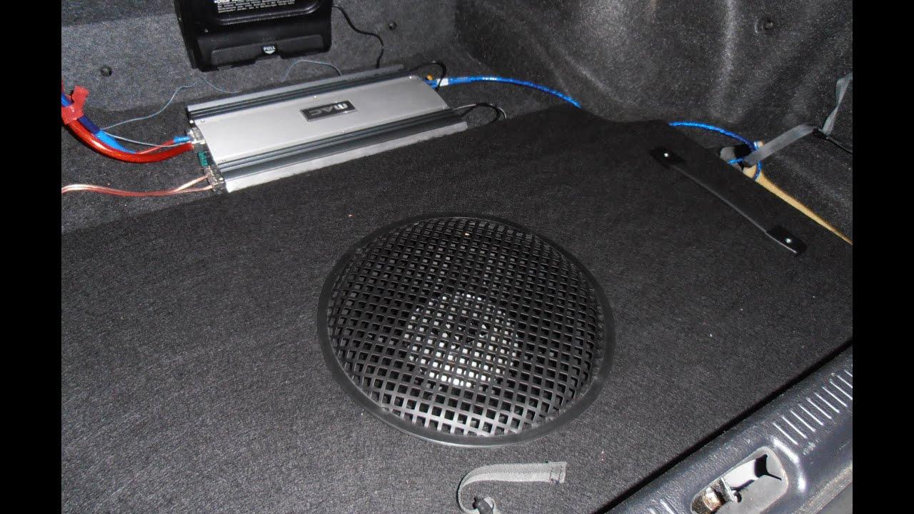 how to subwoofer in ersatzradmulde einbau car hifi d mmung. Black Bedroom Furniture Sets. Home Design Ideas