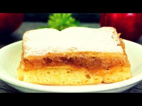 Съели половину пирога сразу! Заливной пирог с яблоками – вкусный и простой рецепт!   Appetitno.TV