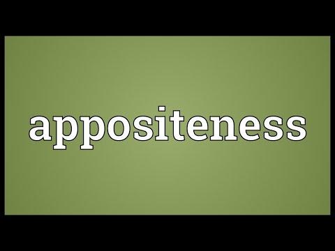 Header of appositeness