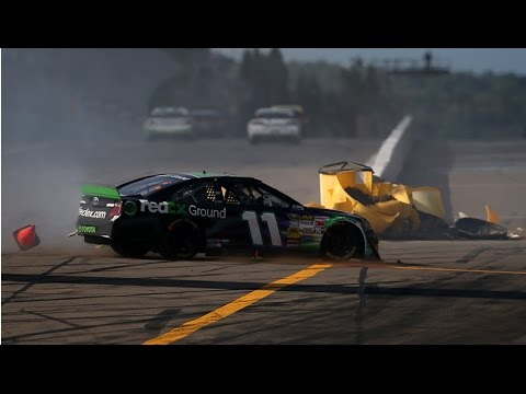 Hamlin and Kennedy Crash @ 2014 Nascar Sprint Cup Watkins Glen