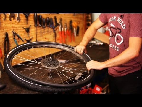 How to Put on New Bike Tire & Tube   Bicycle Repair