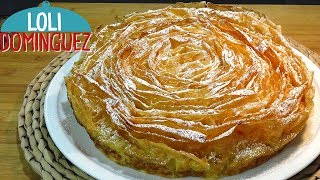 Ruffled Milk Cake (Galatopita, pastel Griego rizado) Recetas paso a paso, tutorial. Loli Domínguez