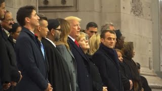 World leaders gather at Arc de Triomphe for WW1 ceremony