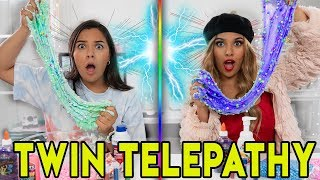 Twin Telepathy Slime Challenge! ft. Rosalina & Natalies Outlet