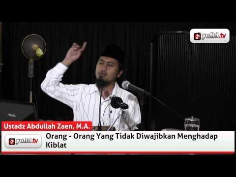 Ceramah Belajar Agama, Orang-orang Yang Tidak Diwajibkan Menghadap Kiblat