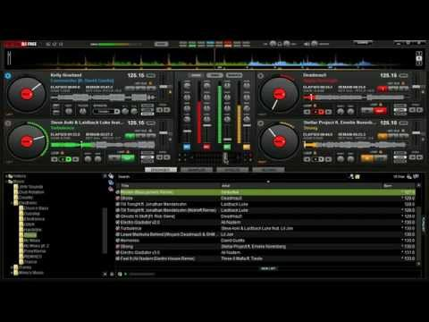 Virtual DJ - Mixing With 4 Decks - House/Electro Blend - DJ Firefly | Flygon11