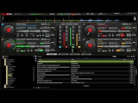 Virtual DJ - Mixing With 4 Decks - House/Electro Blend - DJ Firefly | Flygon11