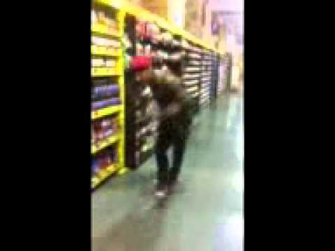 Fukking around at the grocery store shuffling :)