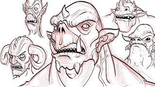 Monster drawing techniques stan winston creatures for Draw with jazza mural