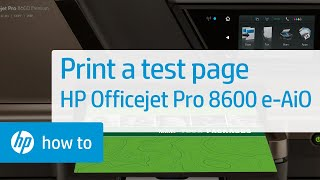 Printing a Test Page - HP Officejet Pro 8600 e-All-in-One (N911a)