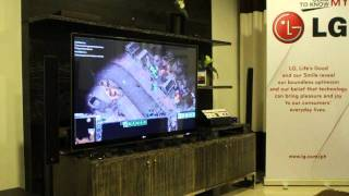 LG Infinia LED 3D TV on Starcraft 2