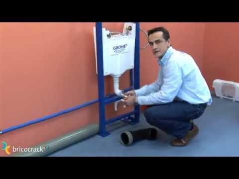 Instalar un m dulo para inodoro wc suspendido for Sanitarios empotrados