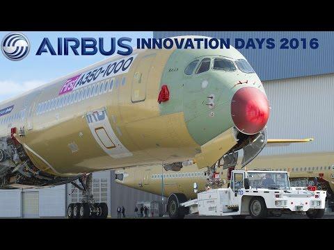 A320NEO SOUND TEST, 3D PRINT AIRCRAFT + A350/A380 NEWS   AIRBUS INNOVATION DAYS 2016