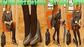 Laura Drzewicka FullHD Nylons Pantyhose Feet Collant Strumpfhose on QVC Italia