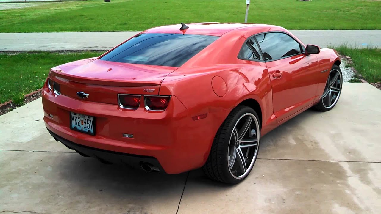 Camaro 2010 On 22 Lorenzos Wheels With Pirreli Ti YouTube