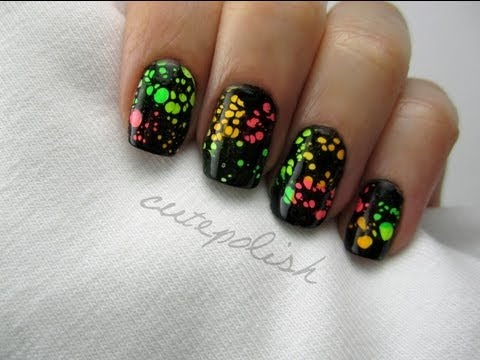 Water Spotted Nail Art Music Videos