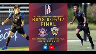 2019 Development Academy Finals: U16/17 Boys Final - Solar SC vs. Concorde Fire