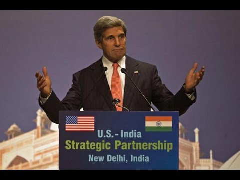 US Secretary Of State John Kerry In India For Strategic Indo-US Dialogue