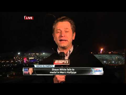 Shaun White Fails To Medal in Men's Halfpipe LIVE (February 11, 2014)
