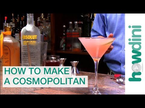 How to make a cosmopolitan - Cosmopolitan drink recipe