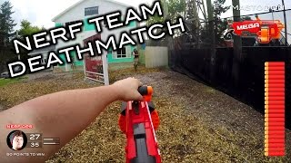 Nerf meets of Duty: Teammatch | First Person on Real Life Nuketown!