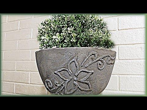 Роспись бетоном. Лепим вазон своими руками из бетона