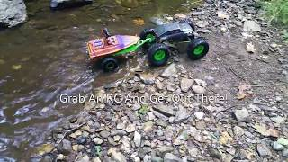 RC Crawler Towing Jet Boat With 3D Printed Trailer