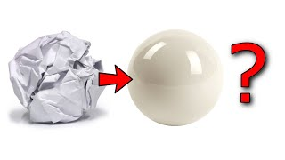 Making a Polished White Paper Ball