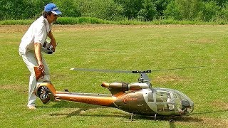 GAZELLE SA-341/342 HUGE RC VARIO SCAE MODEL ELECTRIC HELICOPTER FLIGHT DEMONSTRATION