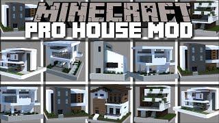 Minecraft INSTANT PRO HOUSE MOD / SPAWN HUGE BUILDINGS INSTANT PRO HOUSE!! Minecraft