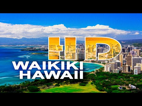 WAIKIKI , HONOLULU - OAHU / HAWAII , USA - A WALKING TRAVEL TOUR - HD 1080P