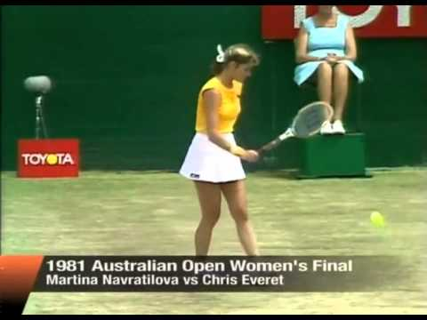 Evert vs Navratilova Final - Australian Open 1981