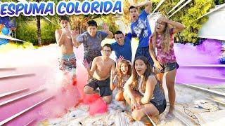 ENCHEMOS A PISCINA COM MUITA ESPUMA COLORIDA! - (LOUCURA) - KIDS FUN