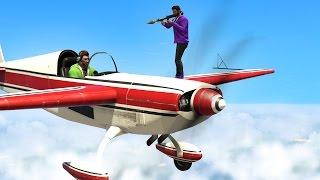 PLANES vs. GUNNERS! (GTA 5 Funny Moments)