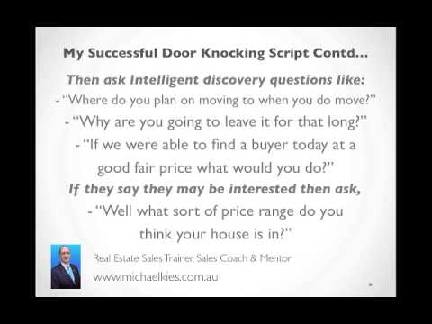 The door knocking script that got me hundreds of listings in real estate sales