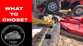 Essential Tractor implements for a beginner Hobby Farm..Mahindra Tractor edition