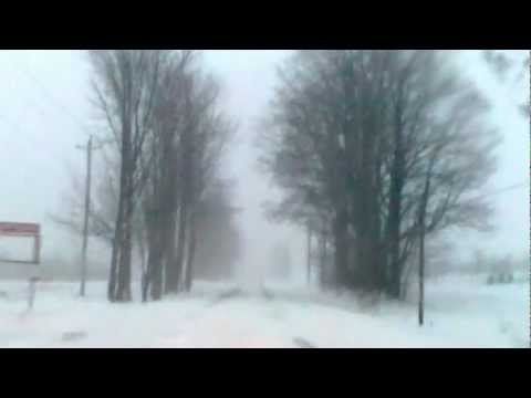 Driving during February 2013 Nor easter Blizzard