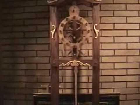 Wooden Gear Grandfather Clock