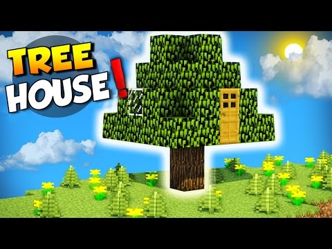 Minecraft: How to Build a House in a Tree - Live Inside a Tree! Tutorial