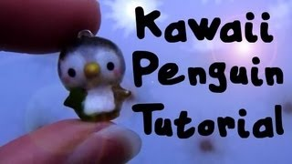 Kawaii Penguin Tutorial_ Polymer Clay Charm :)