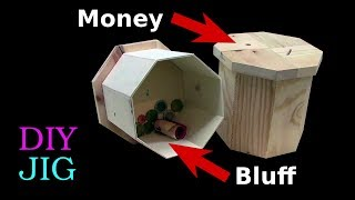 Money Box with Secret Compartment - how to make - DIY Project (Eng Sub)