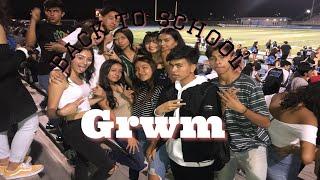 Back to school GRWM/ VLOG / FOOTBALL GAME || Priscilla